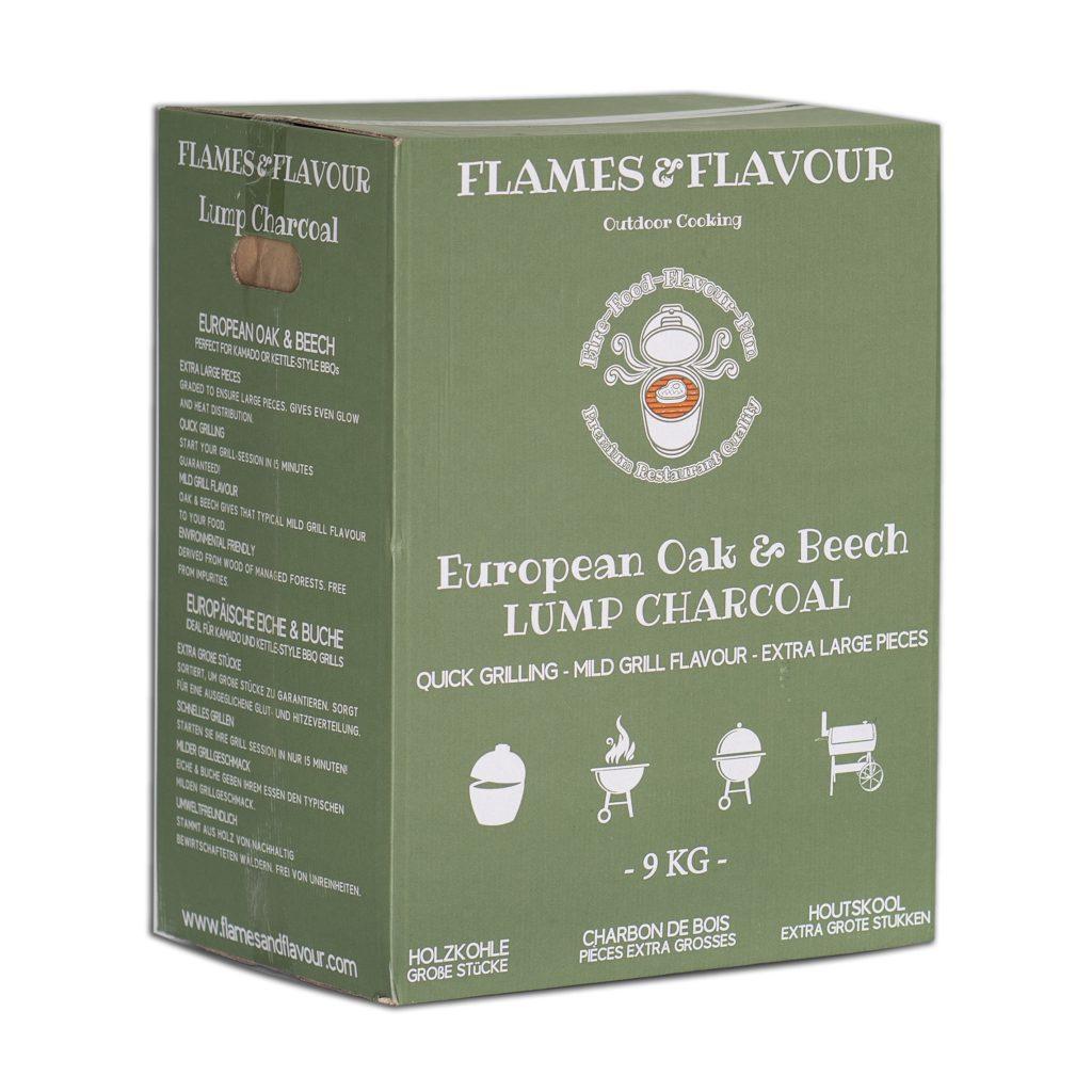 Flames & Flavour Europees Eiken & Beuken Houtskool