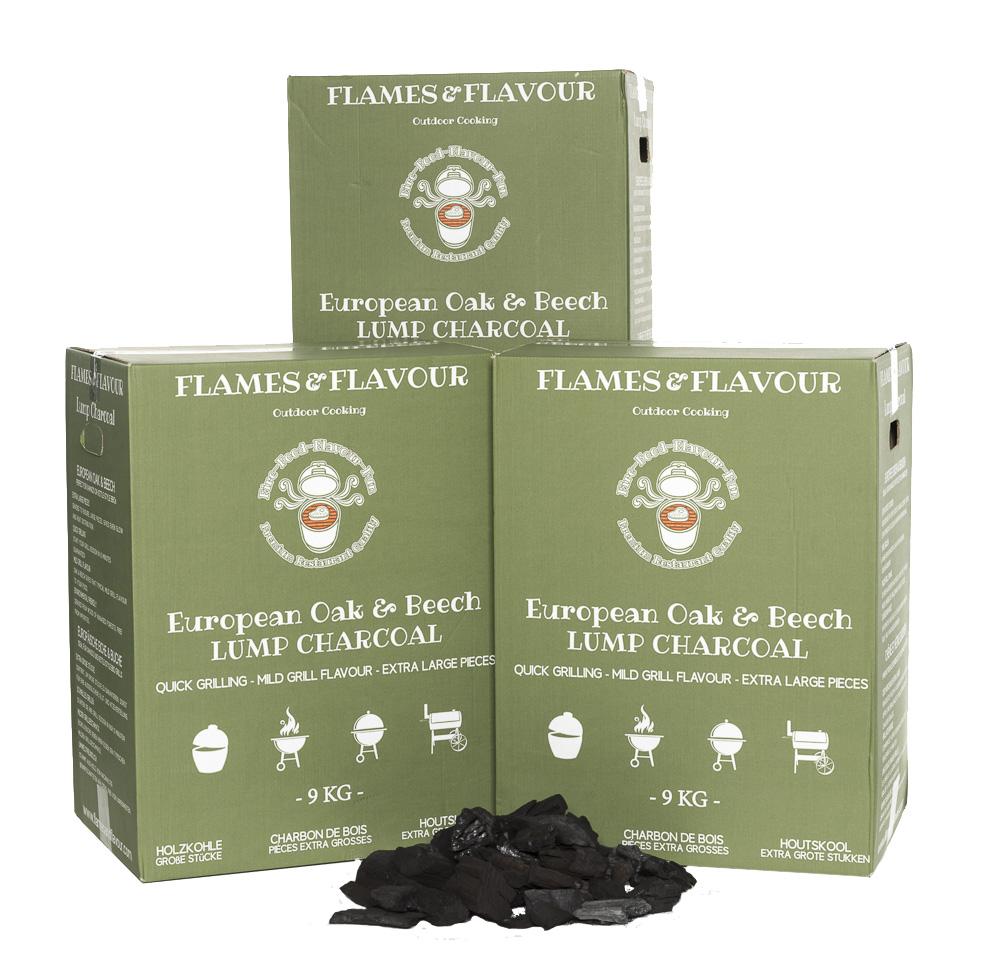 Volume voordeel Flames & Flavour Eiken en Beuken Houtskool