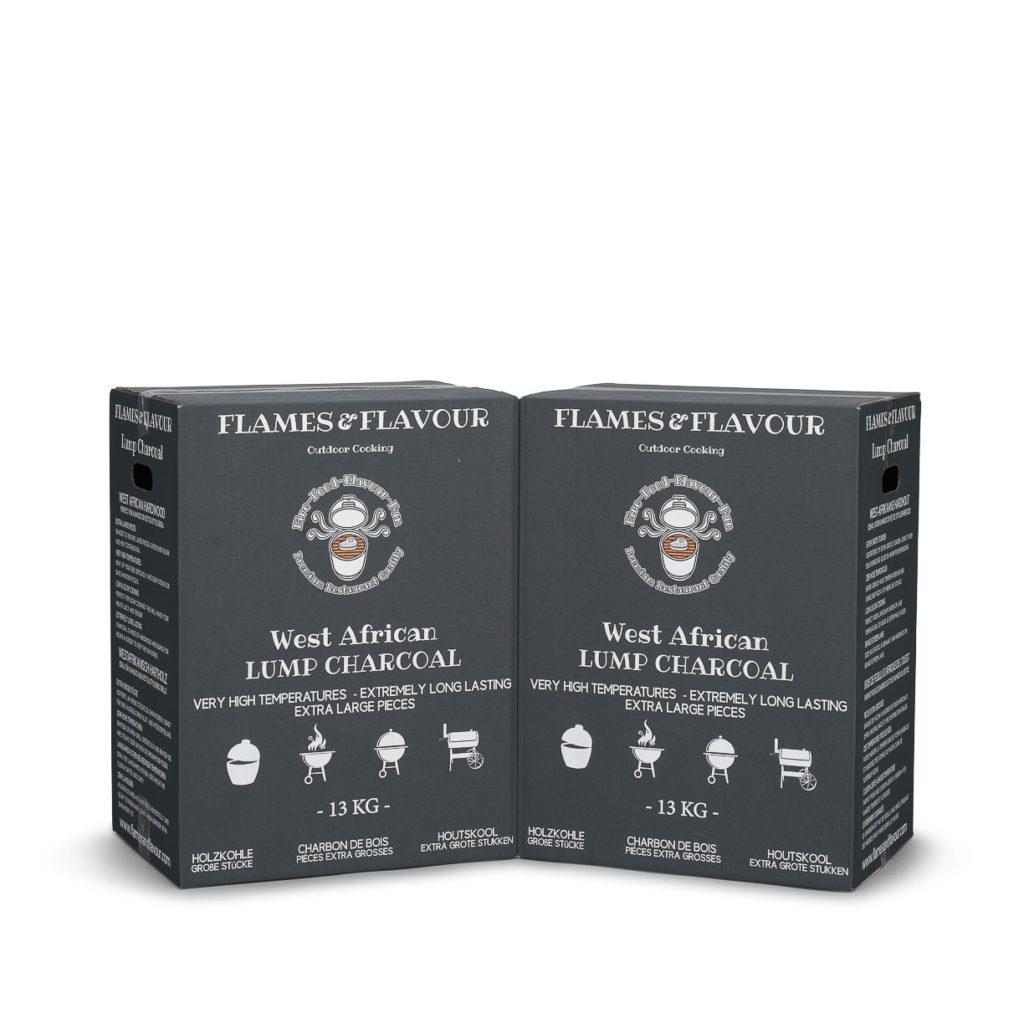 Aanbieding volume voordeel West AFrikaanse houtskool van Flames & Flavour 26 kg