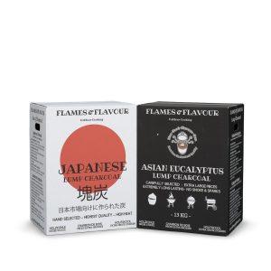 Aanbieding Japanse Houtskool en Aziatische Eucalyptus van Flames & Flavour