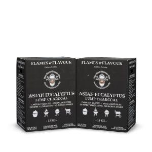 Duo aanbieding Aziatische Eucalyptus houtskool van Flames & Flavour