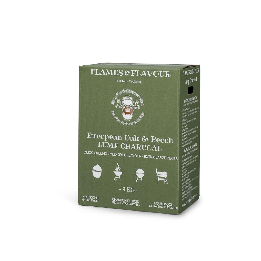 Europees Eiken & BEuken Restaurant Houtskool 9kg van Flames & Flavour