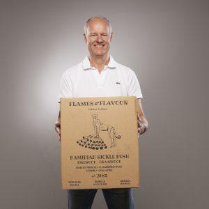 mooi sekelbos hout voor braai in doos