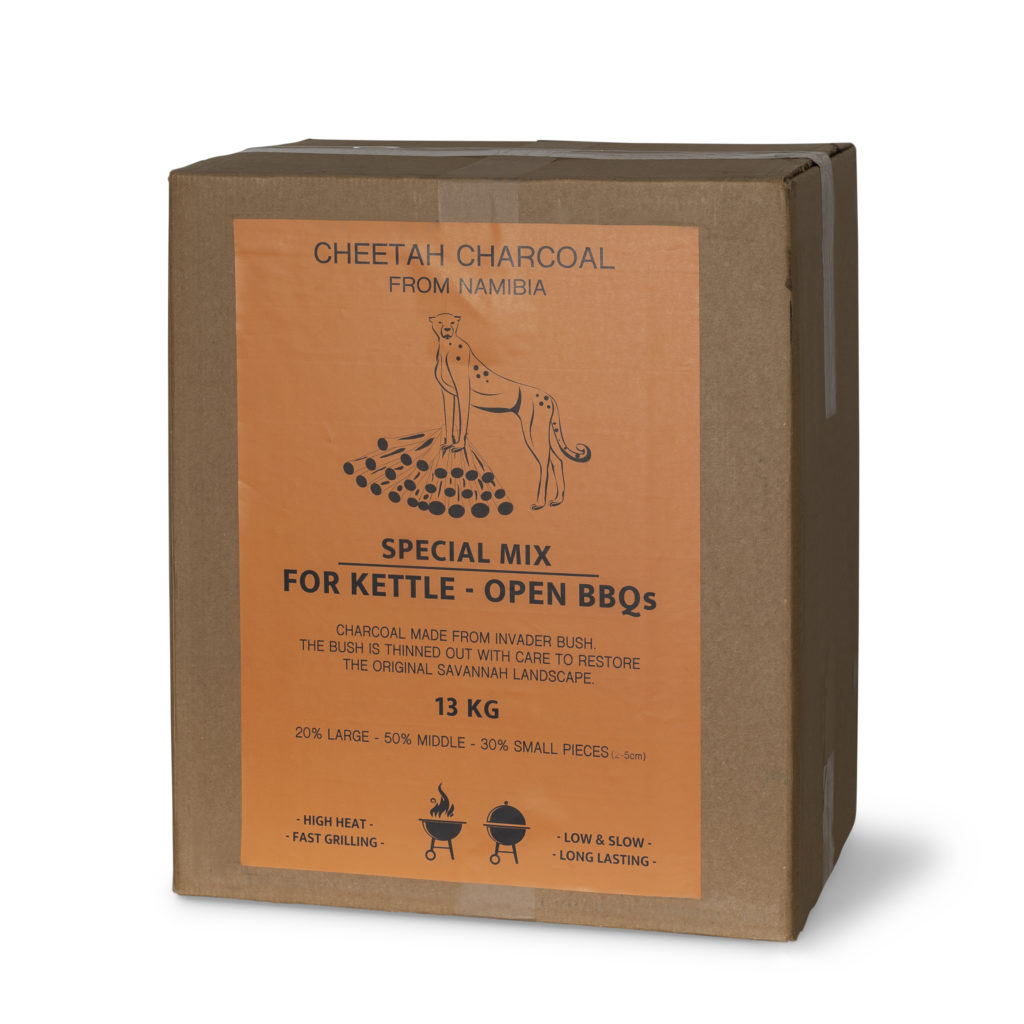 Cheetah Charcoal 13 KG perfect Kettle - Open BBQmix